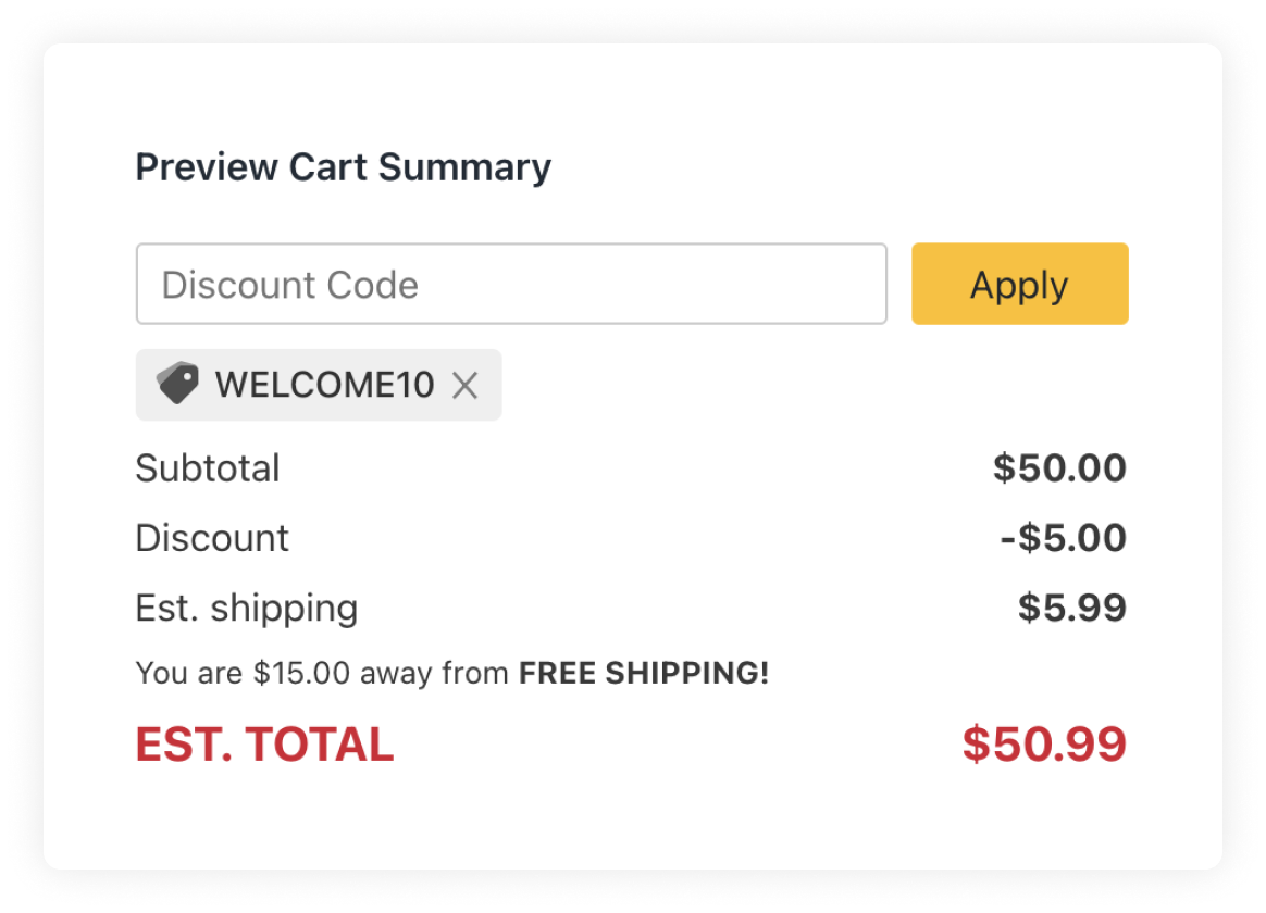 Coupon Cart